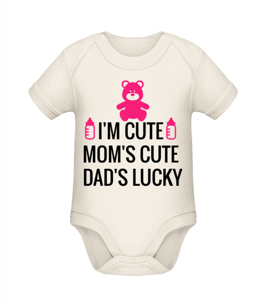 I'm Cute Dad's Lucky - Organic Baby Body - 12-18 month - Vorn
