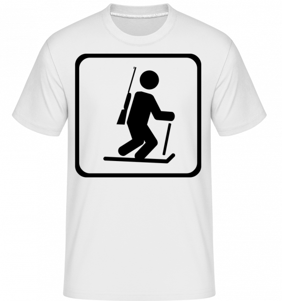 Biathlon Sign - Shirtinator Men's T-Shirt - White - Vorn