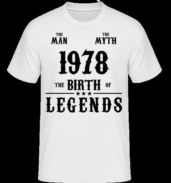 The Myth 1978 - Shirtinator Men's T-Shirt - White - Vorn
