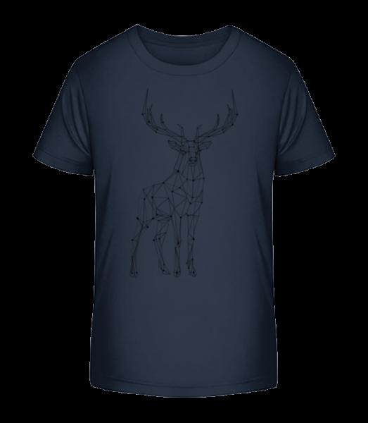 Polygon Deer - Kid's Premium Bio T-Shirt - Navy - Vorn