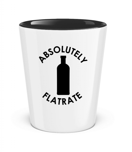 Absolutely Flatrate Vodka - Two-Toned Shot Glass - White - Vorn