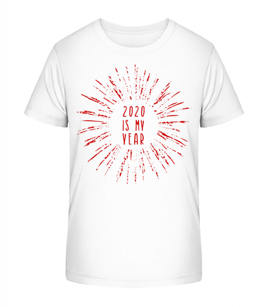 2020 Is My Year - Kid's Premium Bio T-Shirt - White - Vorn