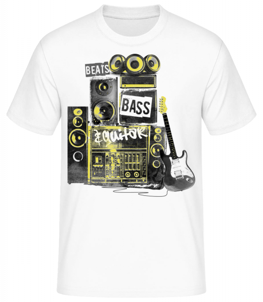 Beat Bass And Guitar - Men's Basic T-Shirt - White - Vorn
