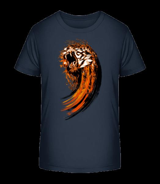 Roaring Tiger - Kid's Premium Bio T-Shirt - Navy - Vorn