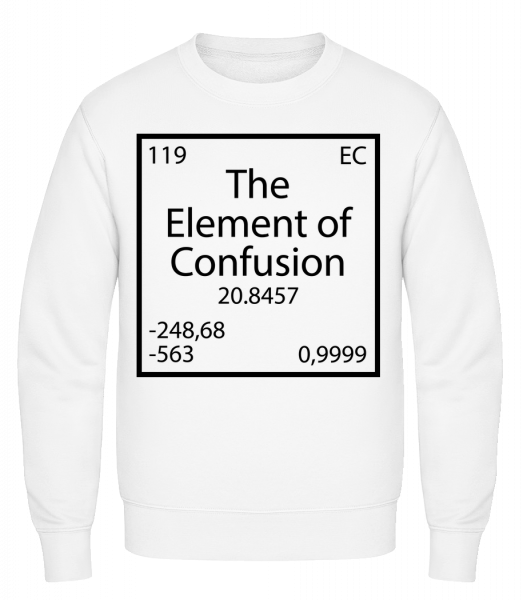 The Element Of Confusion - Classic Set-In Sweatshirt - White - Vorn