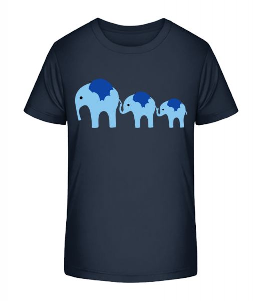 Elephants Family Baby - Kid's Premium Bio T-Shirt - Navy - Vorn