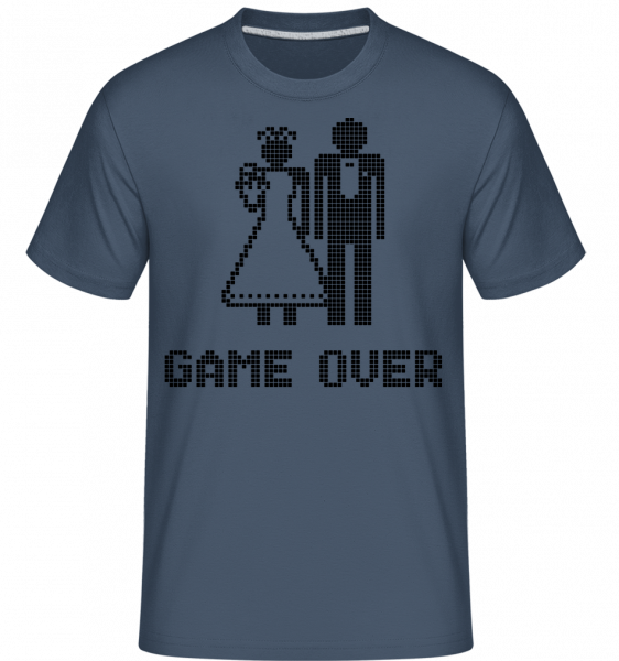 Game Over Sign Black -  Shirtinator Men's T-Shirt - Denim - Vorn