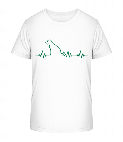 Heartbeat Dog - Kid's Premium Bio T-Shirt - White - Vorn