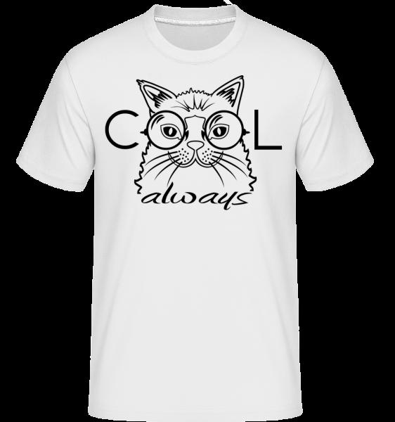 Cool Cat Always - Shirtinator Men's T-Shirt - White - Vorn