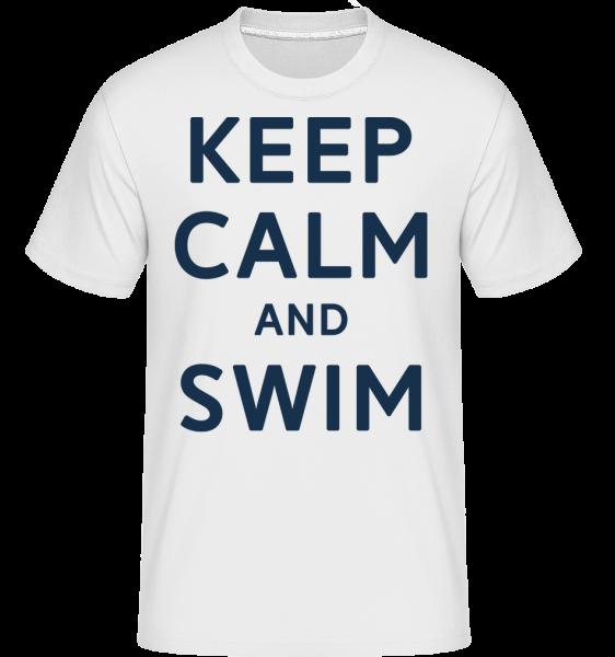 Keep Calm And Swim - Shirtinator Men's T-Shirt - White - Vorn