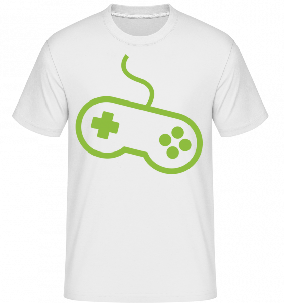 Controller Game Console -  Shirtinator Men's T-Shirt - White - Vorn