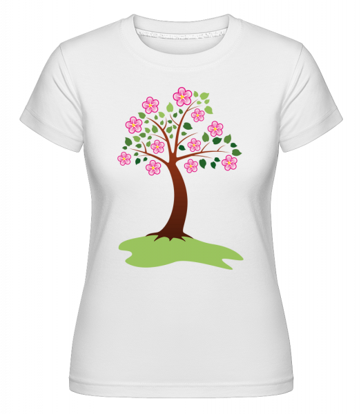 Apple Tree Spring - Shirtinator Women's T-Shirt - White - Vorn