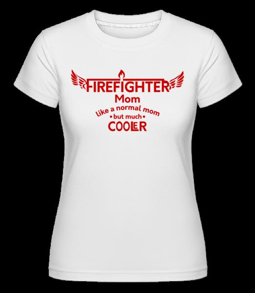 Cool Firefighter Mom - Shirtinator Women's T-Shirt - White - Vorn