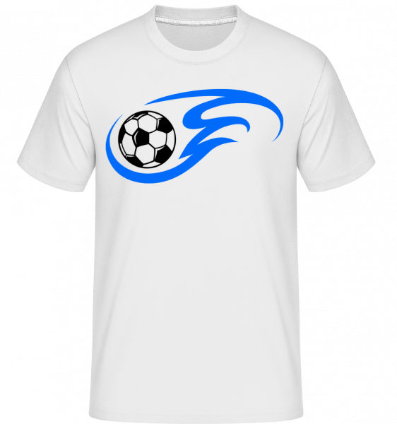 Football Flame -  Shirtinator Men's T-Shirt - White - Vorn