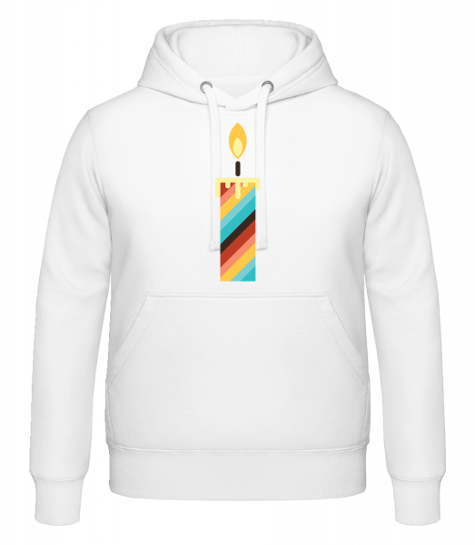 Birthday Candle - Hoodie - White - Vorn