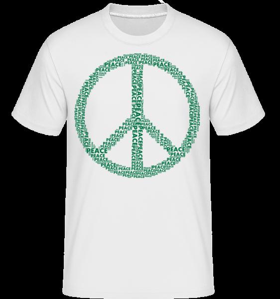 Peace Sign - Shirtinator Men's T-Shirt - White - Vorn
