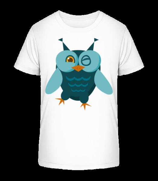 Owl Comic - Kid's Premium Bio T-Shirt - White - Vorn