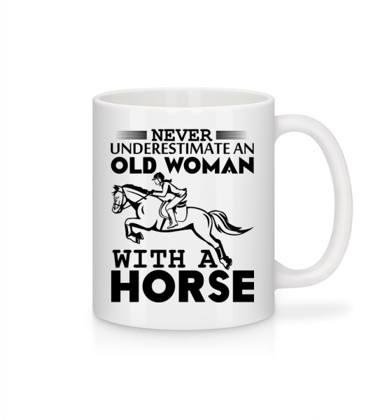 Old Woman With Horse - Mug - White - Vorn