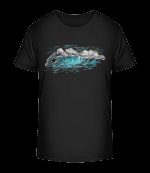 Surfer Wave - Kid's Premium Bio T-Shirt - Black - Vorn