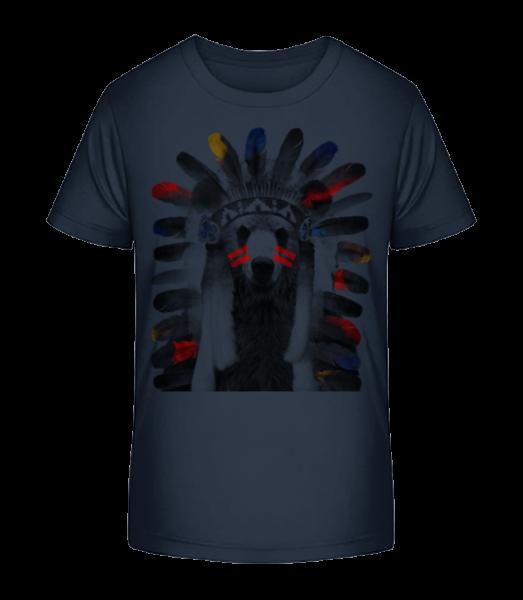 Indian Bear - Kid's Premium Bio T-Shirt - Navy - Vorn