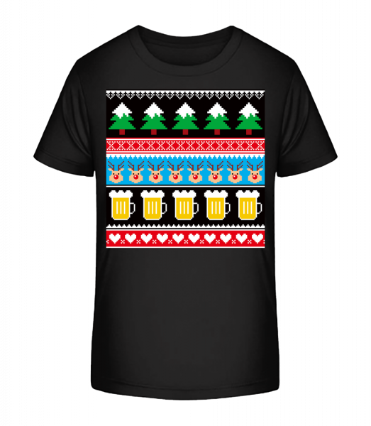 Ugly Christmas Symbols - Kid's Premium Bio T-Shirt - Black - Vorn