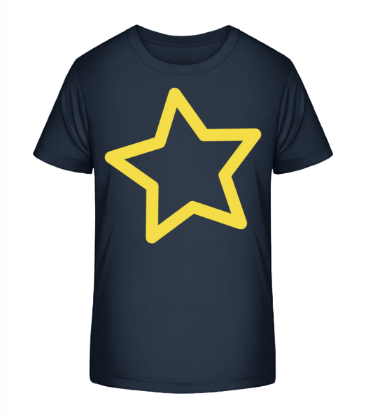 Star - Kid's Premium Bio T-Shirt - Navy - Vorn