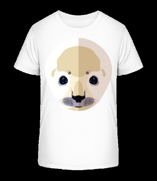 Seal Comic Shadow - Kid's Premium Bio T-Shirt - White - Vorn
