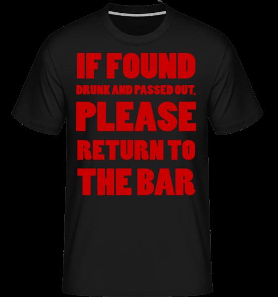 Please Return To The Bar -  Shirtinator Men's T-Shirt - Black - Vorn