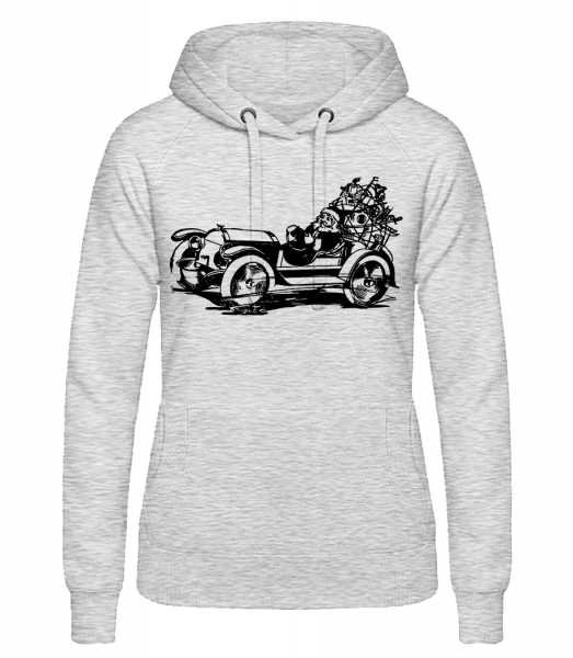 Christmas Oldtimer - Women's hoodie - Heather grey - Vorn