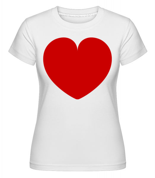 Love Heart -  Shirtinator Women's T-Shirt - White - Vorn