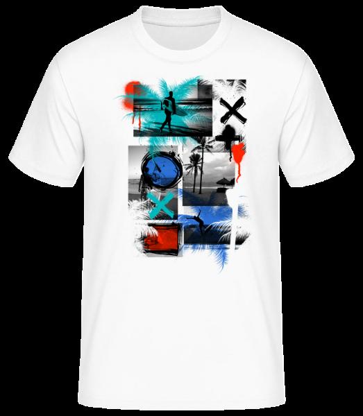 Surfing And Graffiti - Men's Basic T-Shirt - White - Vorn