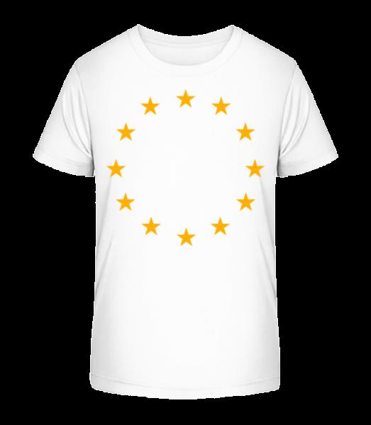 EU Stars - Kid's Premium Bio T-Shirt - White - Vorn
