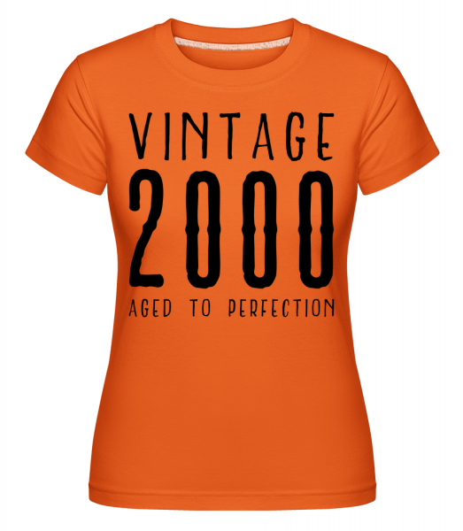 Vintage 2000 Aged To Perfection - Shirtinator Women's T-Shirt - Orange - Vorn