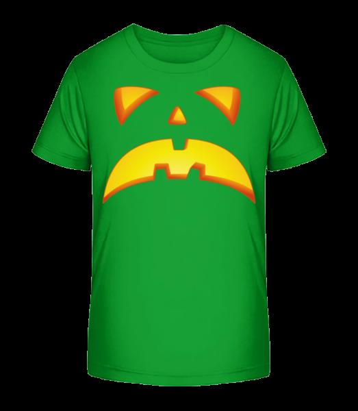 Pumpkin Face Evil - Kid's Premium Bio T-Shirt - Green - Vorn
