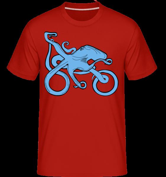 Motorcycle Octopus - Shirtinator Men's T-Shirt - Red - Vorn