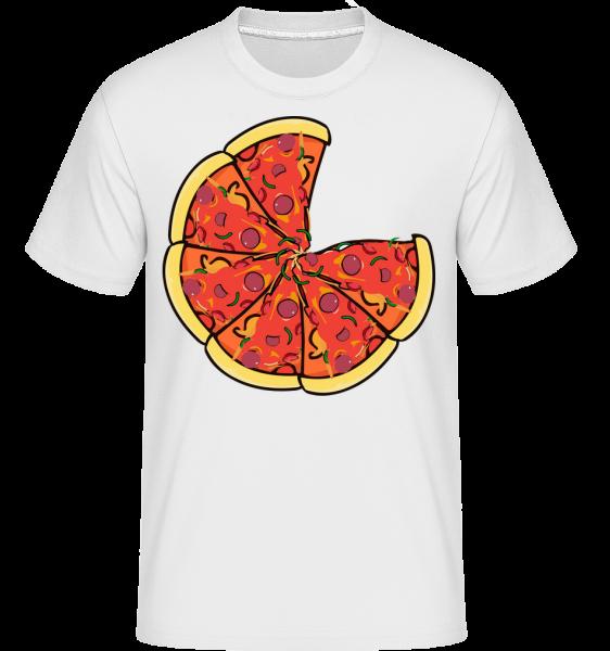 Pizza -  Shirtinator Men's T-Shirt - White - Vorn