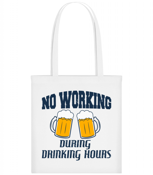 No Working But Drinking - Carrier Bag - White - Vorn