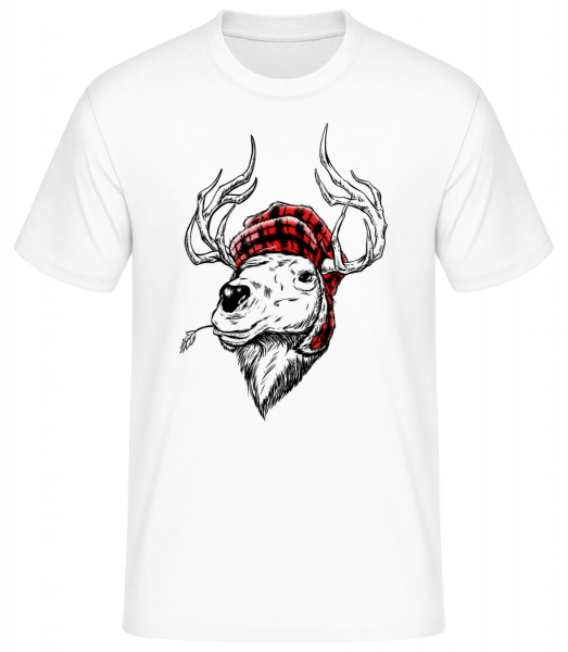 Christmas Reindeer - Men's Basic T-Shirt - White - Vorn