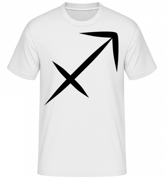 Sagittarius Sign -  Shirtinator Men's T-Shirt - White - Vorn