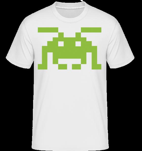 Pixel Monster -  Shirtinator Men's T-Shirt - White - Vorn
