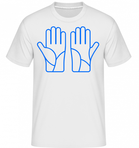 Ski Gloves Blue -  Shirtinator Men's T-Shirt - White - Vorn