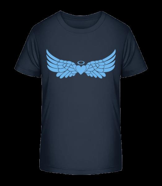Angel Heart With Wings - Kid's Premium Bio T-Shirt - Navy - Vorn