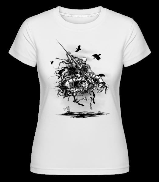 Dead Knight -  Shirtinator Women's T-Shirt - White - Vorn