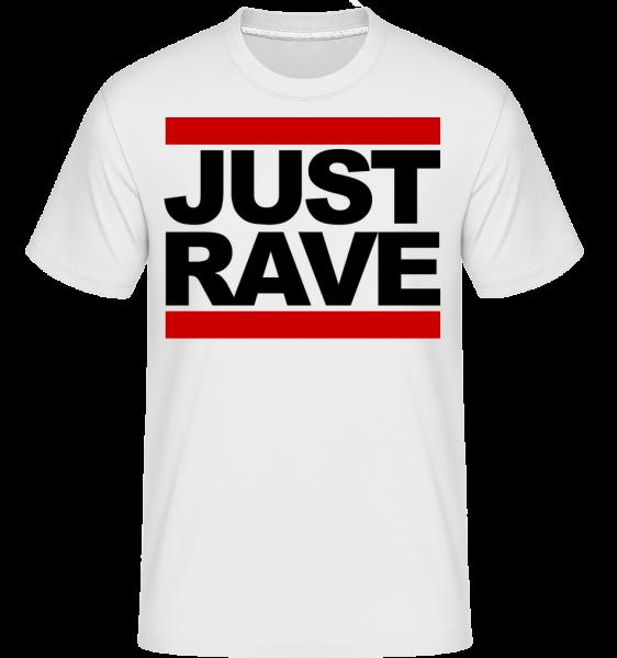 Just Rave Logo -  Shirtinator Men's T-Shirt - White - Vorn