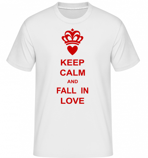 Keep Calm And Fall In Love -  Shirtinator Men's T-Shirt - White - Vorn