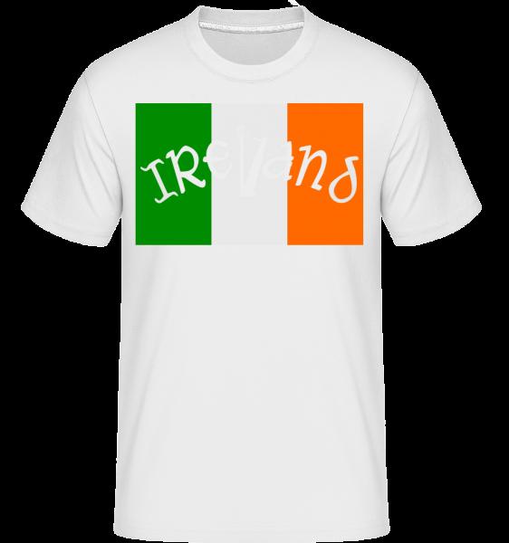 Ireland Flag -  Shirtinator Men's T-Shirt - White - Vorn