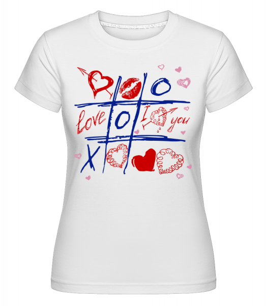 Love Raster Valentine - Shirtinator Women's T-Shirt - White - Vorn