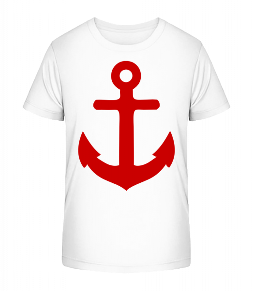 Anchor - Kid's Premium Bio T-Shirt - White - Vorn