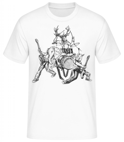 Wild Band - Men's Basic T-Shirt - White - Vorn