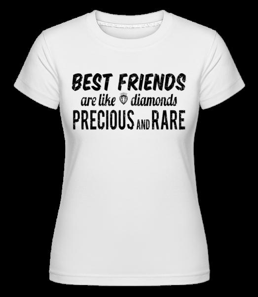 Best Friends Are Like Diamonds -  Shirtinator Women's T-Shirt - White - Vorn